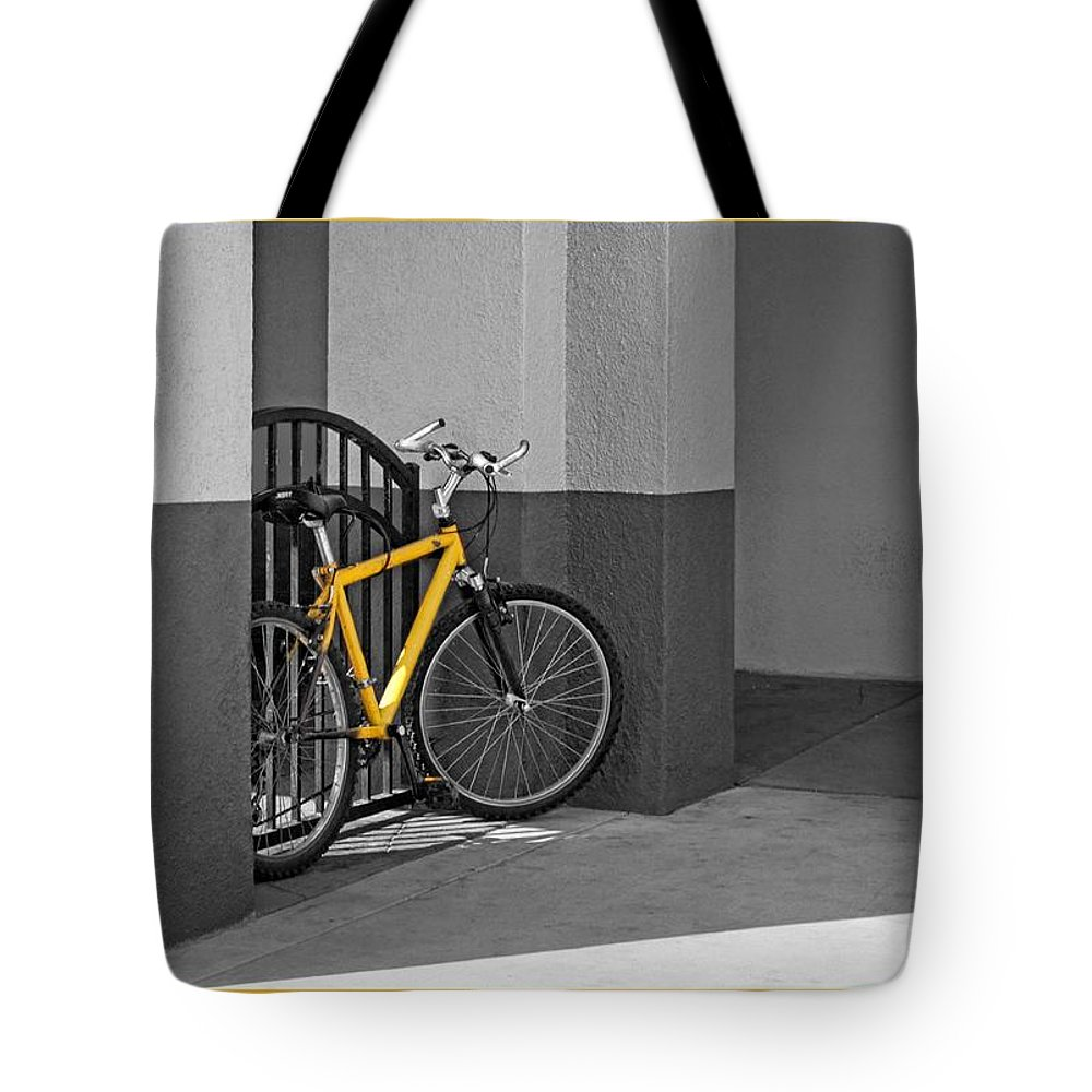Bicycle Tote Bag featuring the photograph Bike With Frame by Nikolyn McDonald