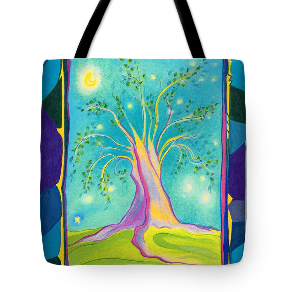 First Star Art Tote Bag featuring the drawing Bilabo Tree by First Star Art