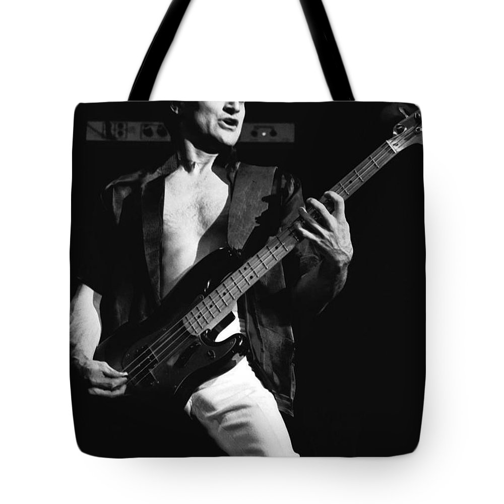 Bill Church Tote Bag featuring the photograph Bill Church On The Bass by Ben Upham