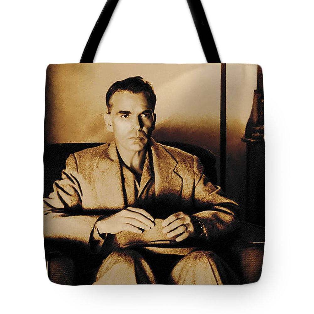 Billy Bob Thornton Tote Bag featuring the digital art Billy Bob Thornton as Ed Crane in the film The Man Who Wasn t There by Gabriel T Toro