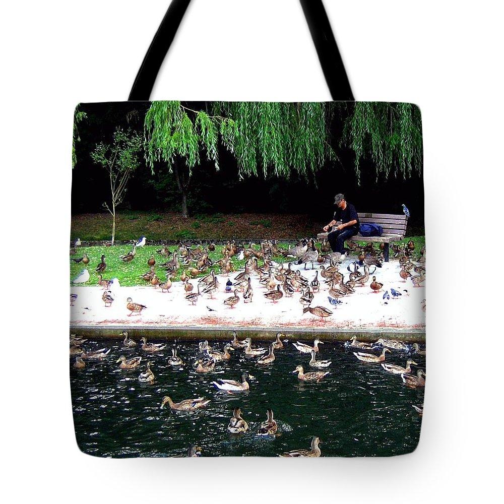 Wild Birds Tote Bag featuring the photograph Bird Man by Will Borden