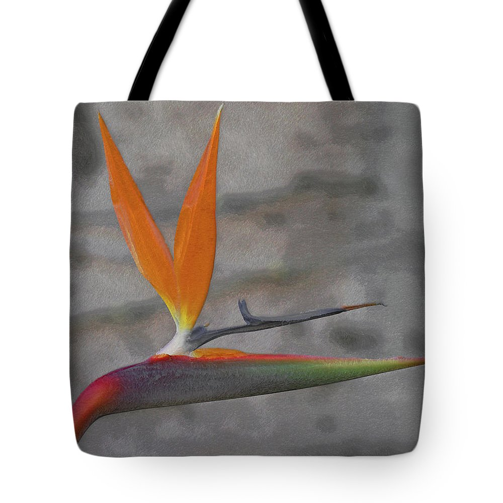 Bird Of Paradise Tote Bag featuring the digital art Bird Of Paradise by Ernie Echols