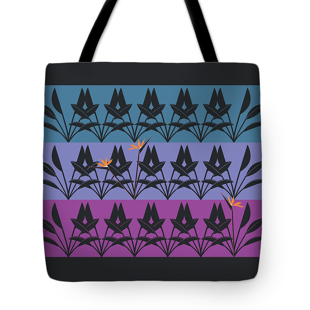 Bird Of Paradise Tote Bag featuring the digital art Bird Of Paradise Pattern by Marie Sansone