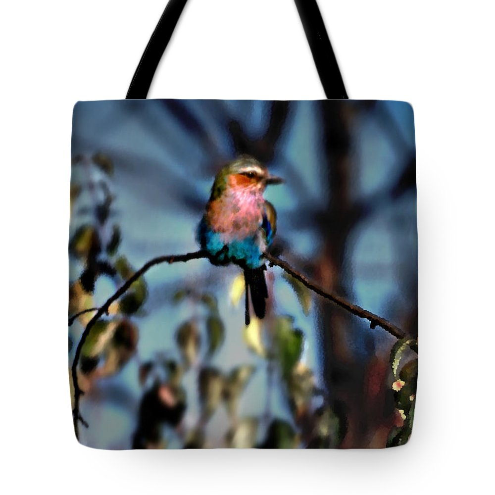Nature Tote Bag featuring the photograph Bird On A Limb by Steve Karol
