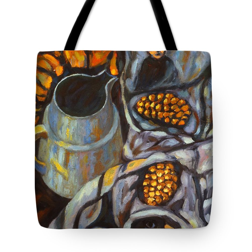 Still Life Tote Bag featuring the painting Bird Scarf by Kendall Kessler