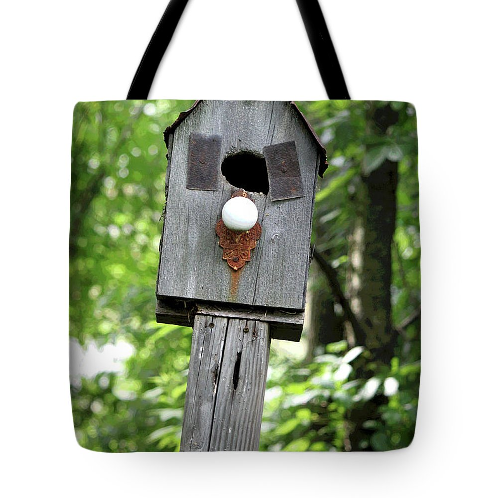 Birdhouse Tote Bag featuring the photograph Birdhouse Collection I by Suzanne Gaff