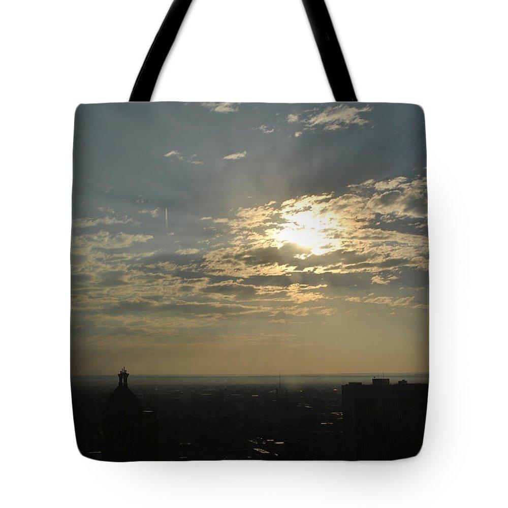 Sunrise Tote Bag featuring the photograph Birdseye Buffalo Ny Awakening V2 by Michael Frank Jr