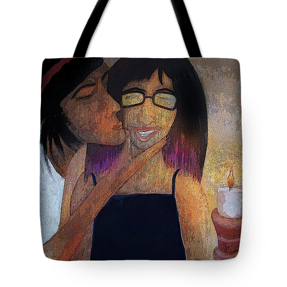 Birthday Tote Bag featuring the painting Birrthday Girl by Larry Rice