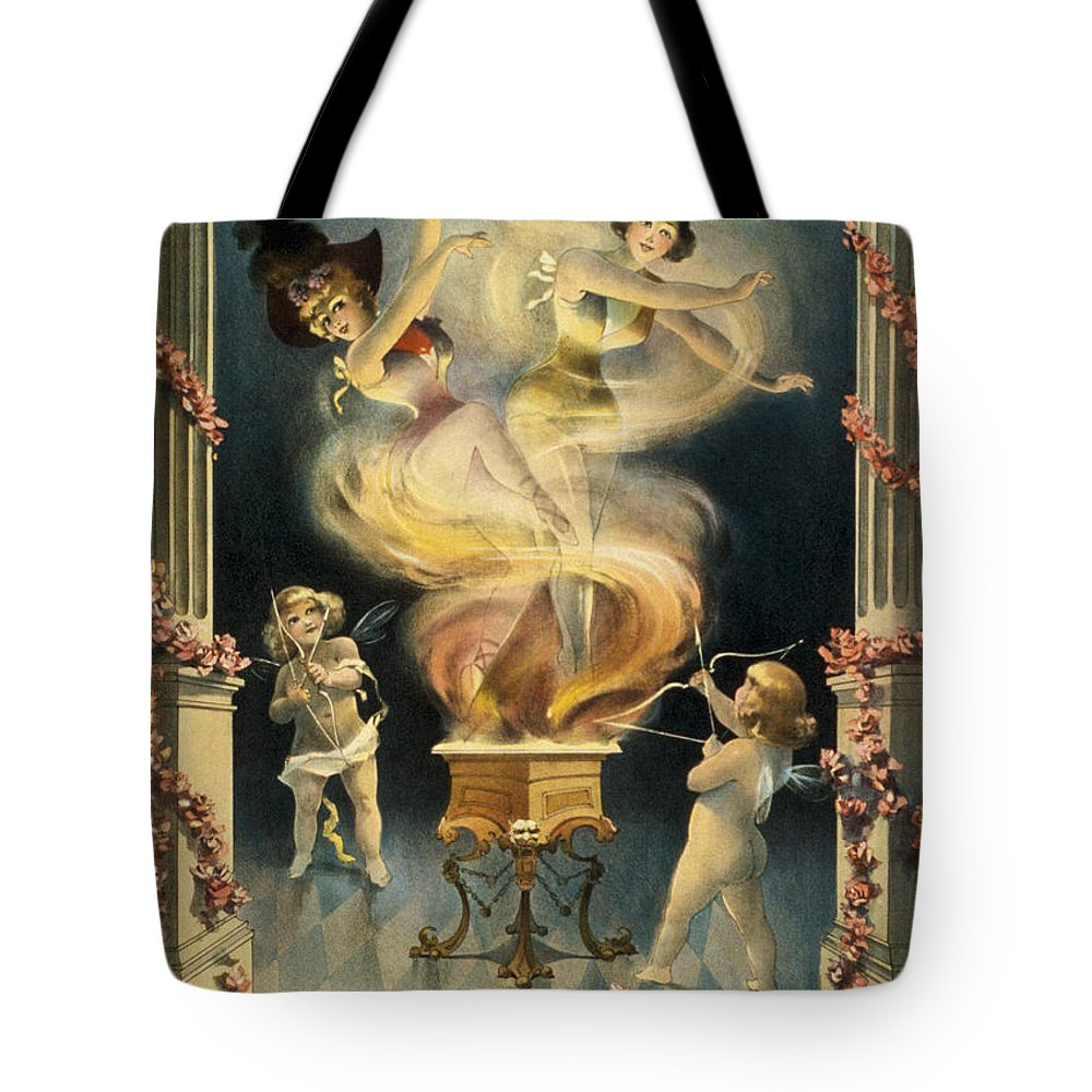 Entertainment Tote Bag featuring the drawing Birth Of The Chorus Girl by Aged Pixel