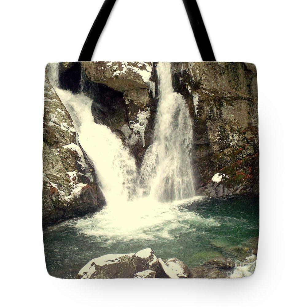 Bish Bash Falls Tote Bag featuring the photograph Bish Bash Falls by Rebecca Malo