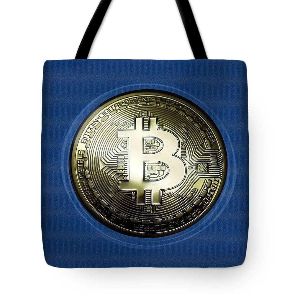 Bitcoin Tote Bag featuring the photograph Bitcoin In Circulation by Renee Trenholm