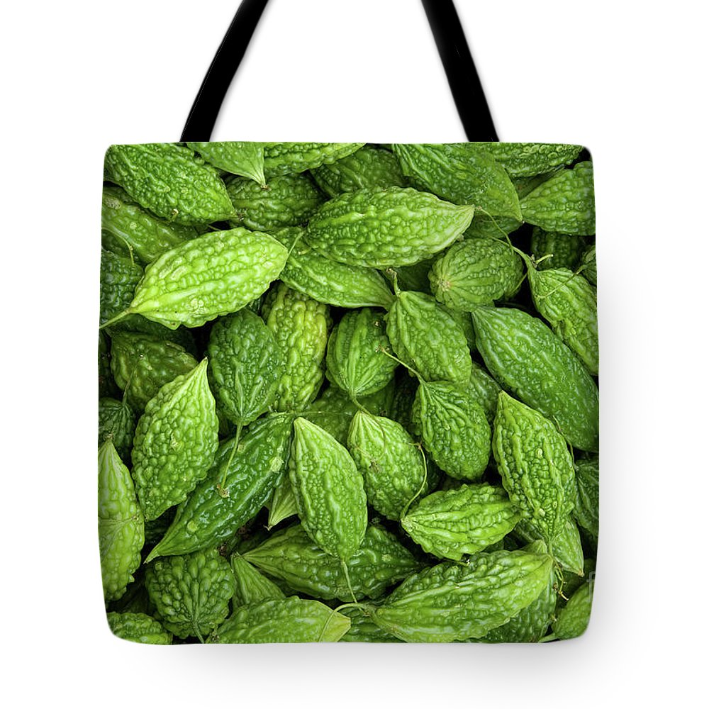 Green Tote Bag featuring the photograph Bitter Melons by Rick Piper Photography