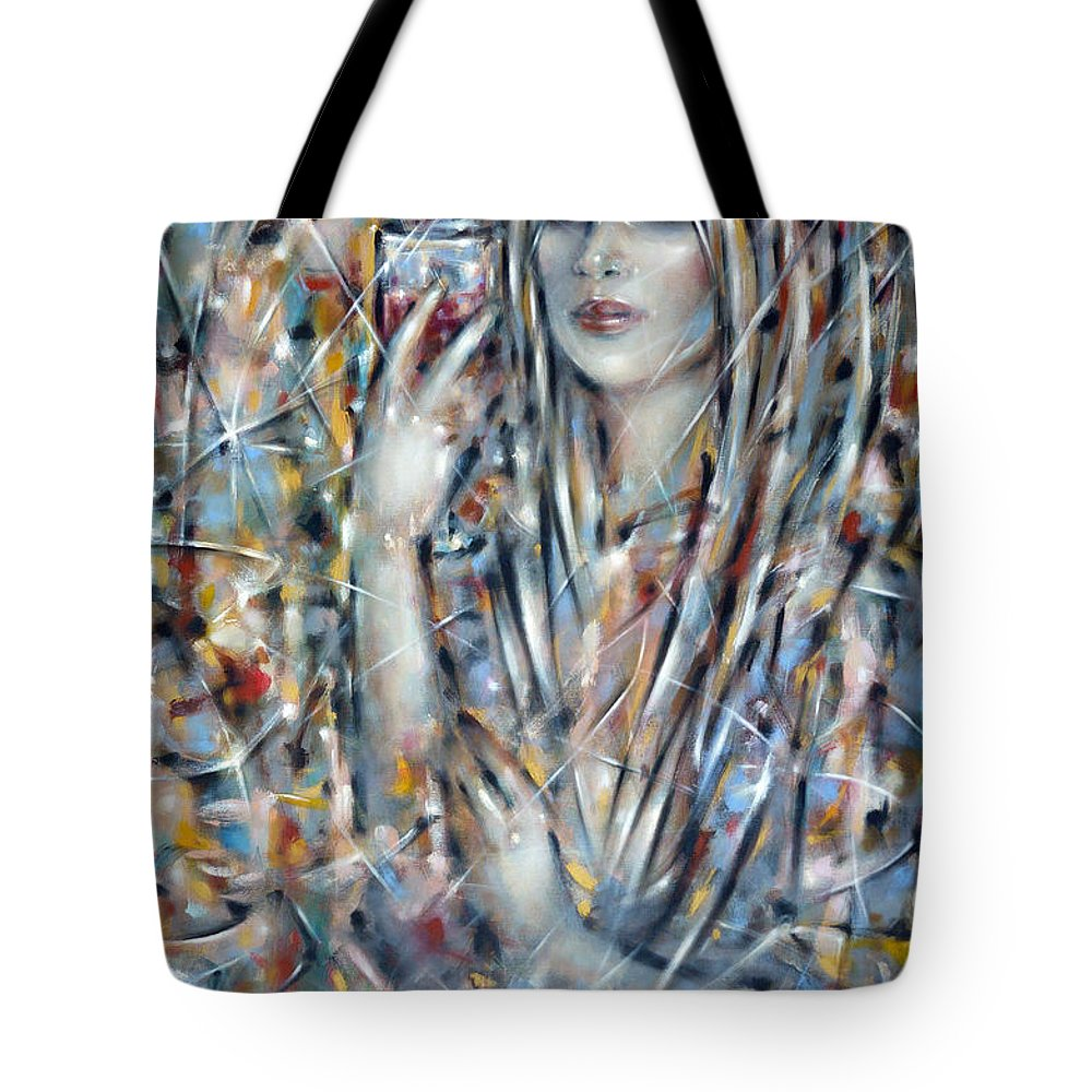 Woman Tote Bag featuring the painting Bitter Sweet 270610 by Selena Boron
