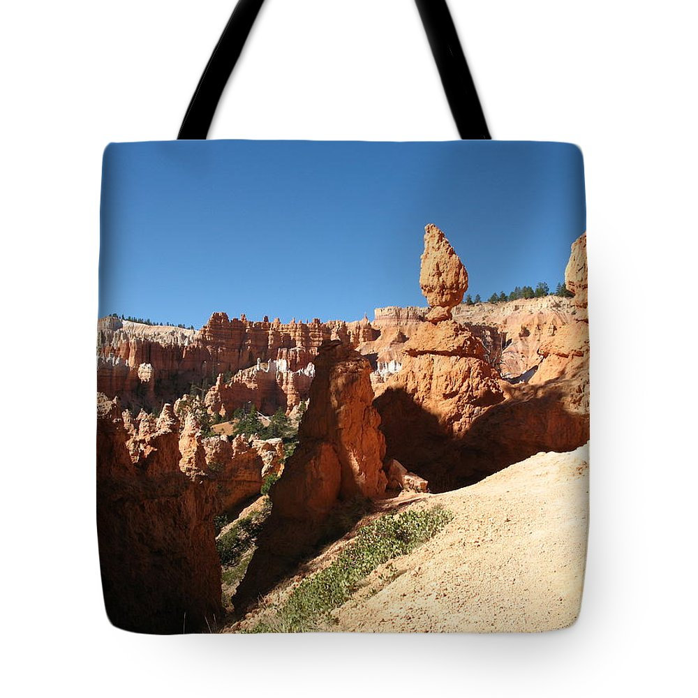 Canyon Tote Bag featuring the photograph Bizarre Shapes - Bryce Canyon by Christiane Schulze Art And Photography