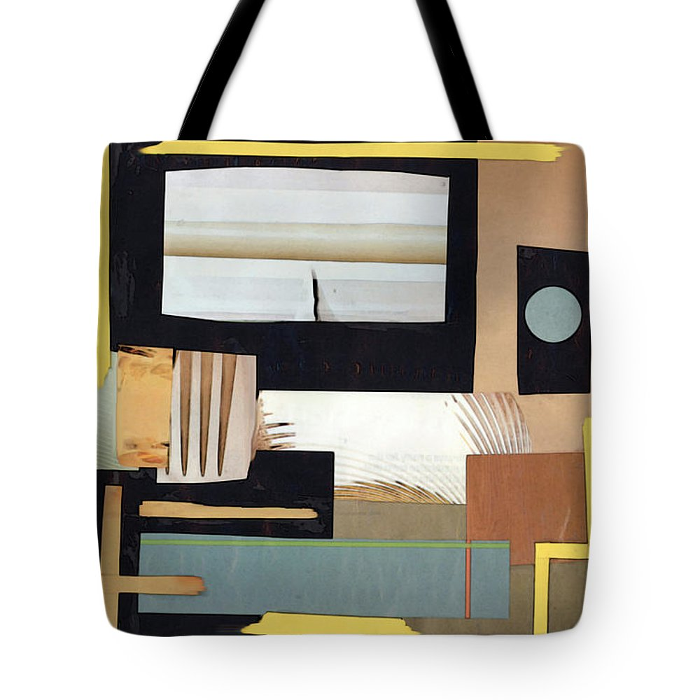 Black Tote Bag featuring the mixed media Black And Tan by Mary Bedy