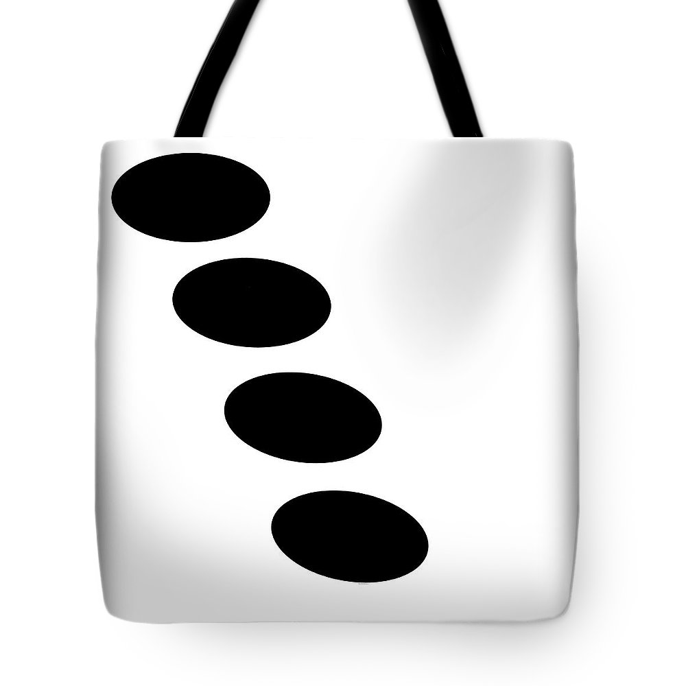 Black And White Tote Bag featuring the digital art Black And White Art - 123 by Ely Arsha