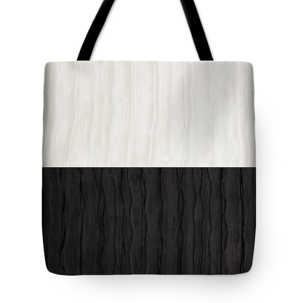 Silk Tote Bag featuring the tapestry - textile Black And White Attraction by Margaret Ivory
