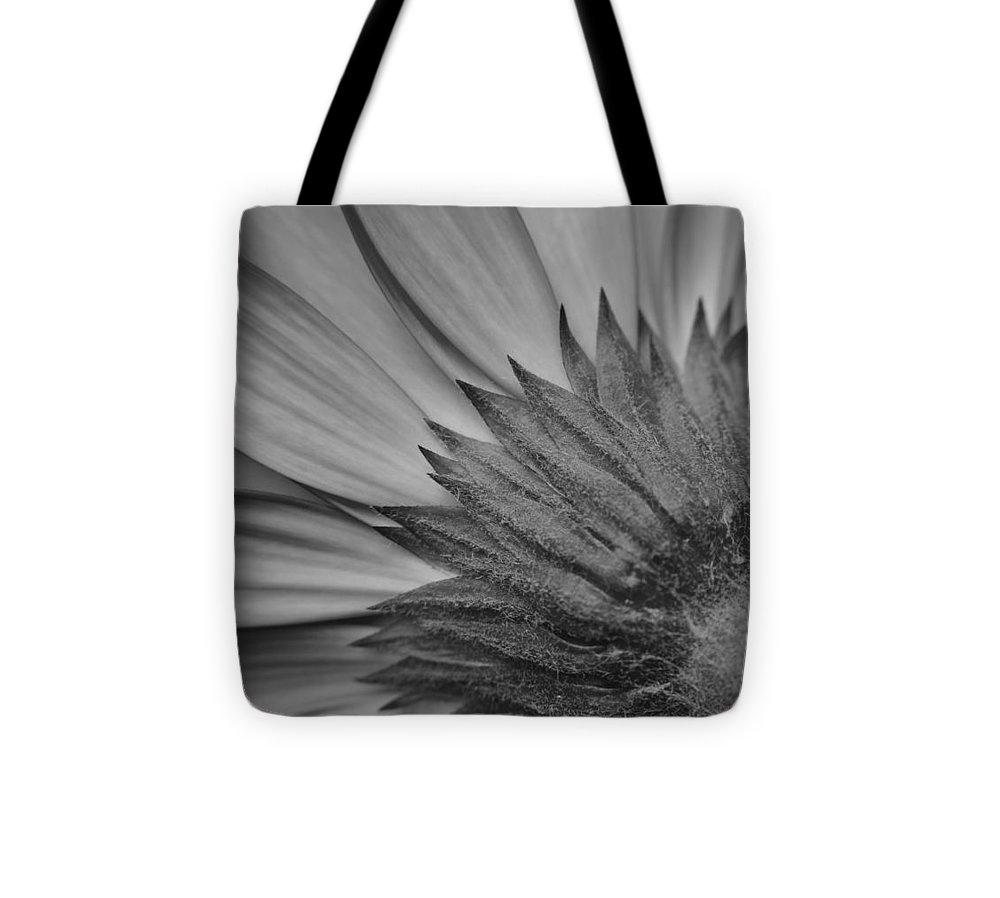 Flower Tote Bag featuring the photograph Black And White Blossom by Frozen in Time Fine Art Photography