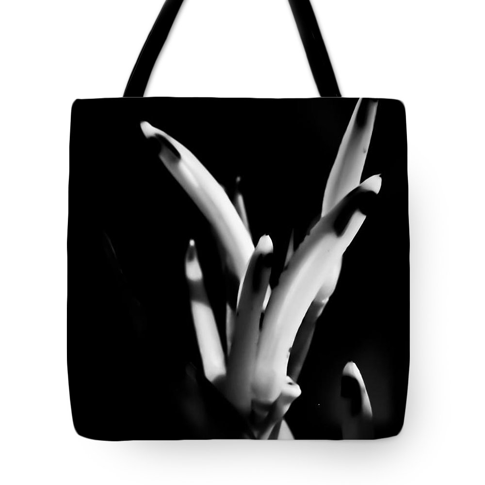 Alien Hand Tote Bag featuring the photograph Abstract Flower by Agata Wisniowska