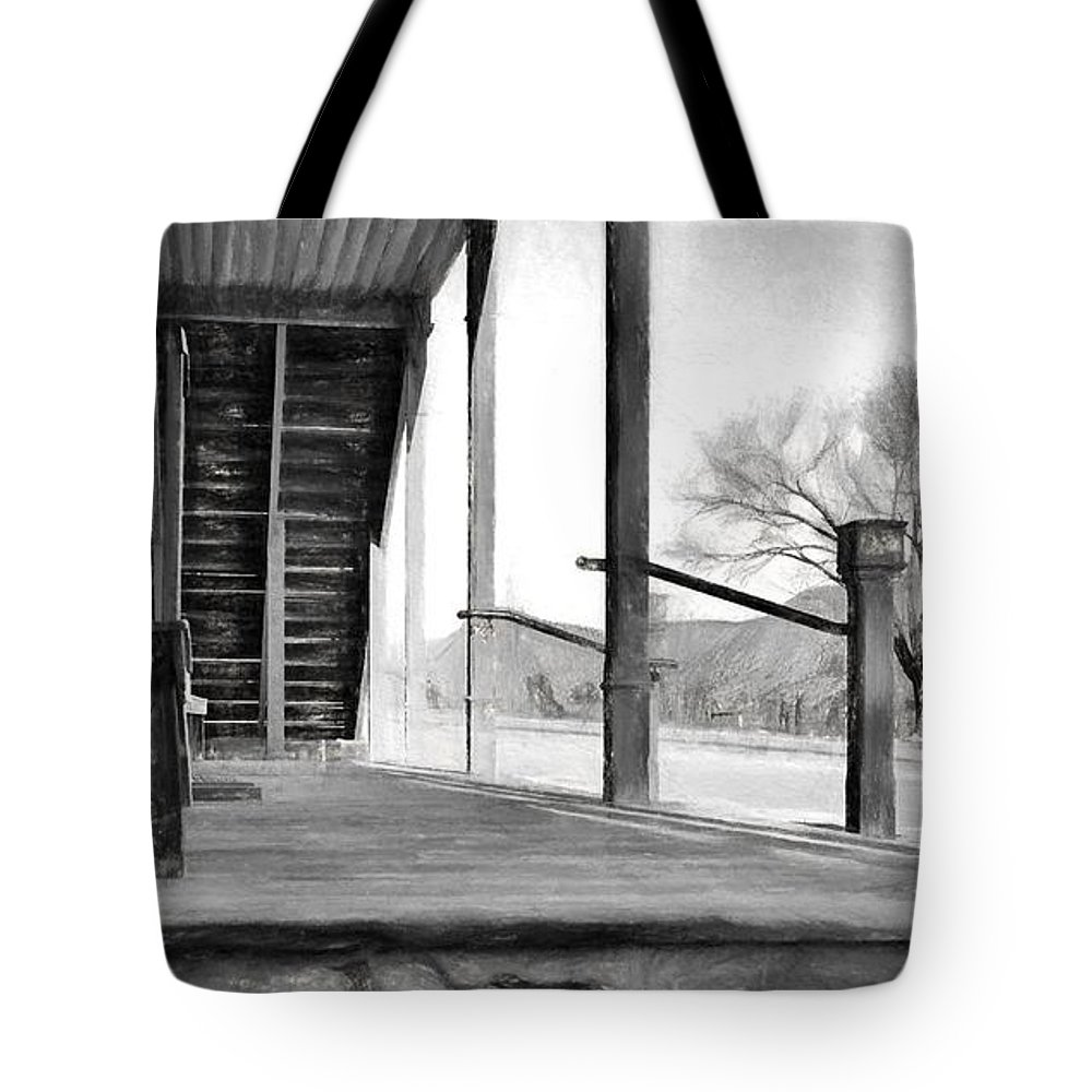Lincoln Tote Bag featuring the photograph Black And White Or Shades Of Gray? by Jim Buchanan