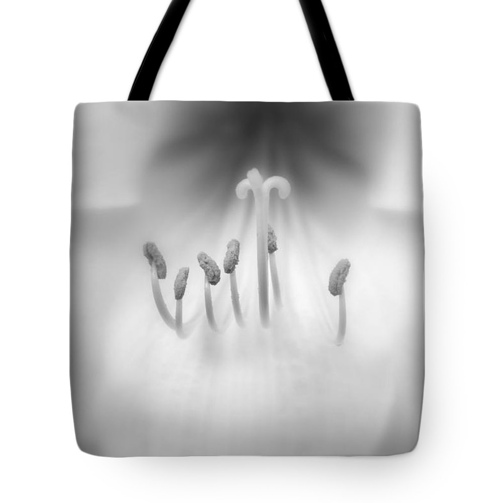 Orchid Tote Bag featuring the photograph Black And White Orchid by Lynn Sprowl