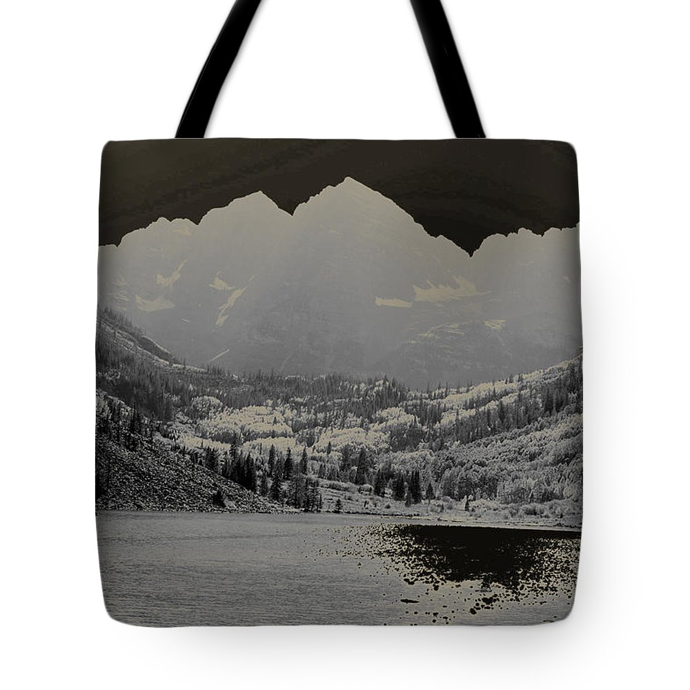 Maroon Bells Tote Bag featuring the photograph Black Bells by Jeremy Rhoades