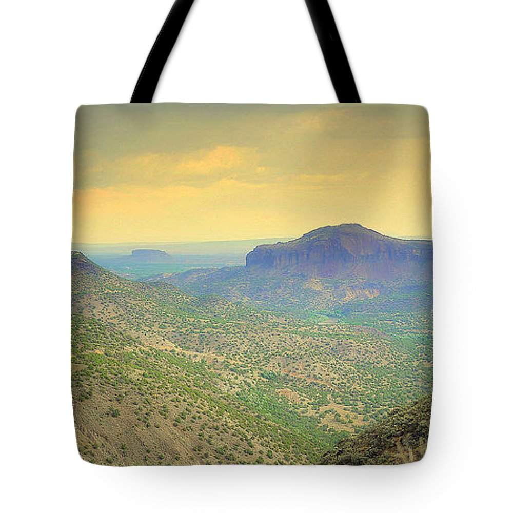 Landscape Tote Bag featuring the photograph Black Butte From White Rock by Robert Shinn