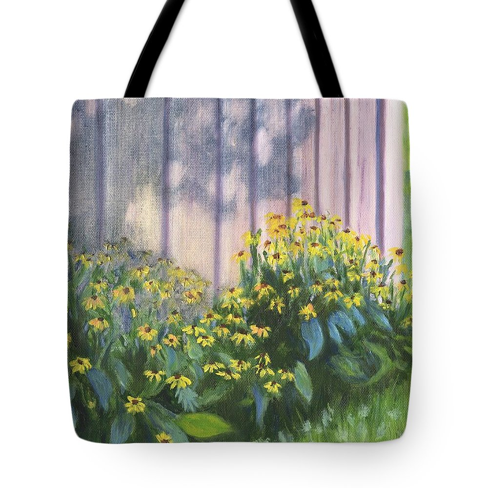 Flowers Tote Bag featuring the painting Black Eyed Susans by Deborah Butts