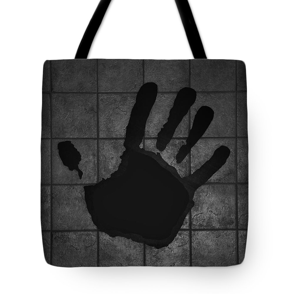 Hand Tote Bag featuring the photograph Black Hand by Rob Hans
