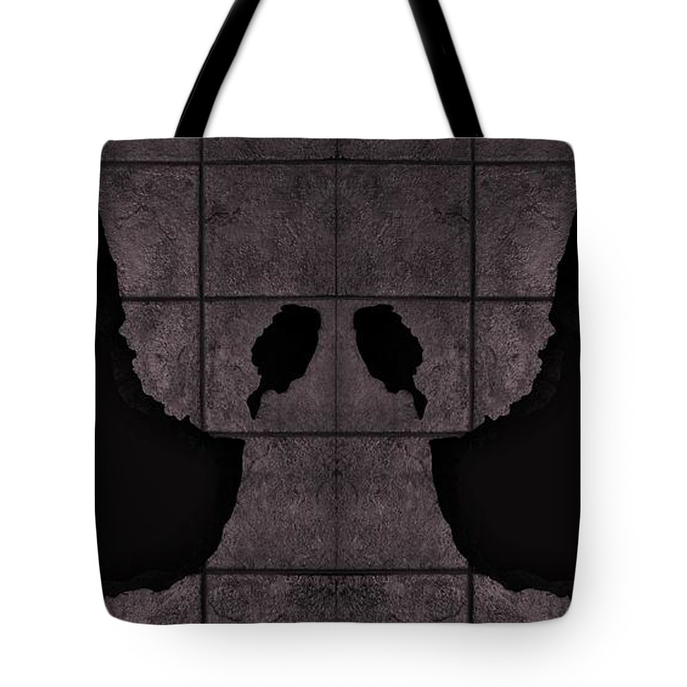 Hand Tote Bag featuring the photograph Black Hands Pink by Rob Hans