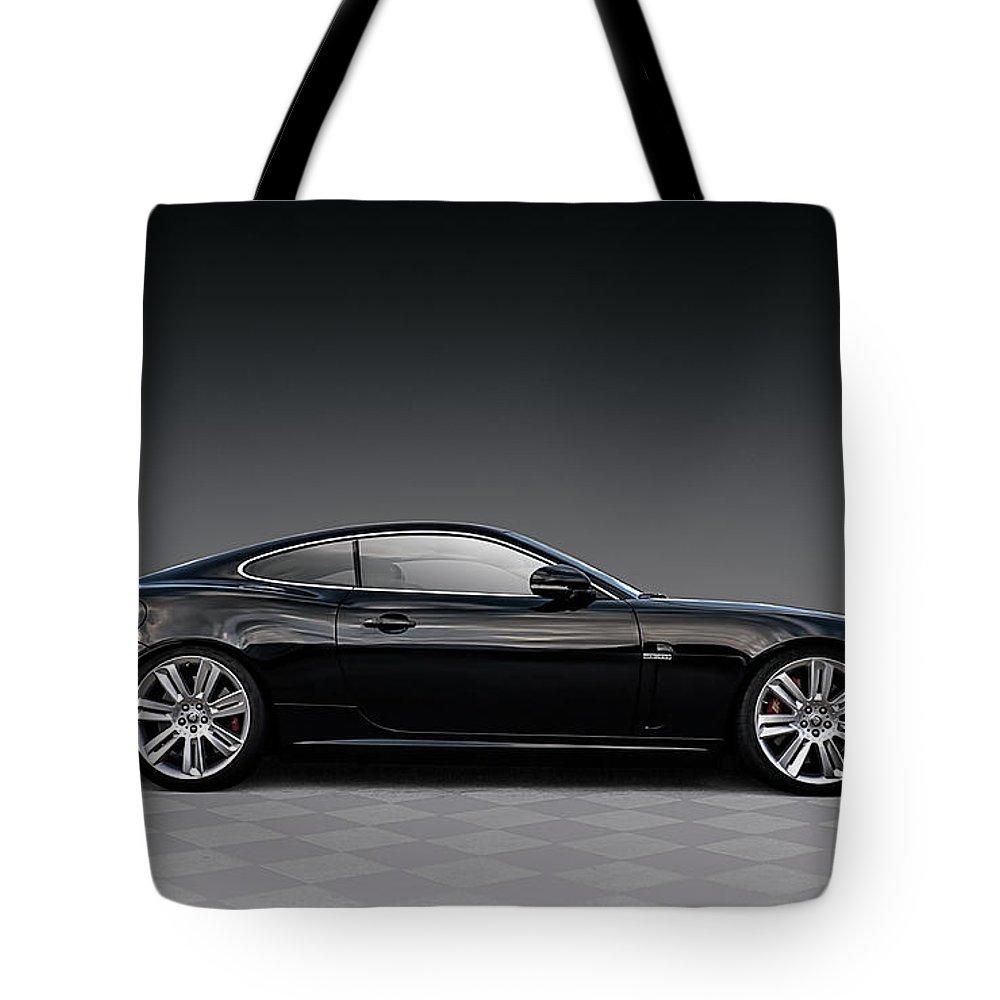 British Tote Bag featuring the digital art Black Jag by Douglas Pittman