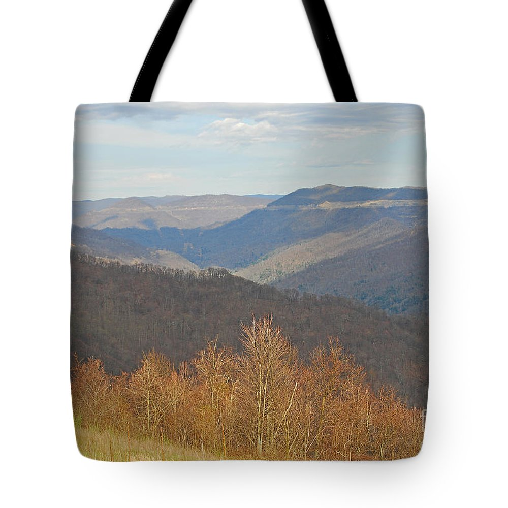 Spring Tote Bag featuring the photograph Black Mountain - Kentucky by Mary Carol Story