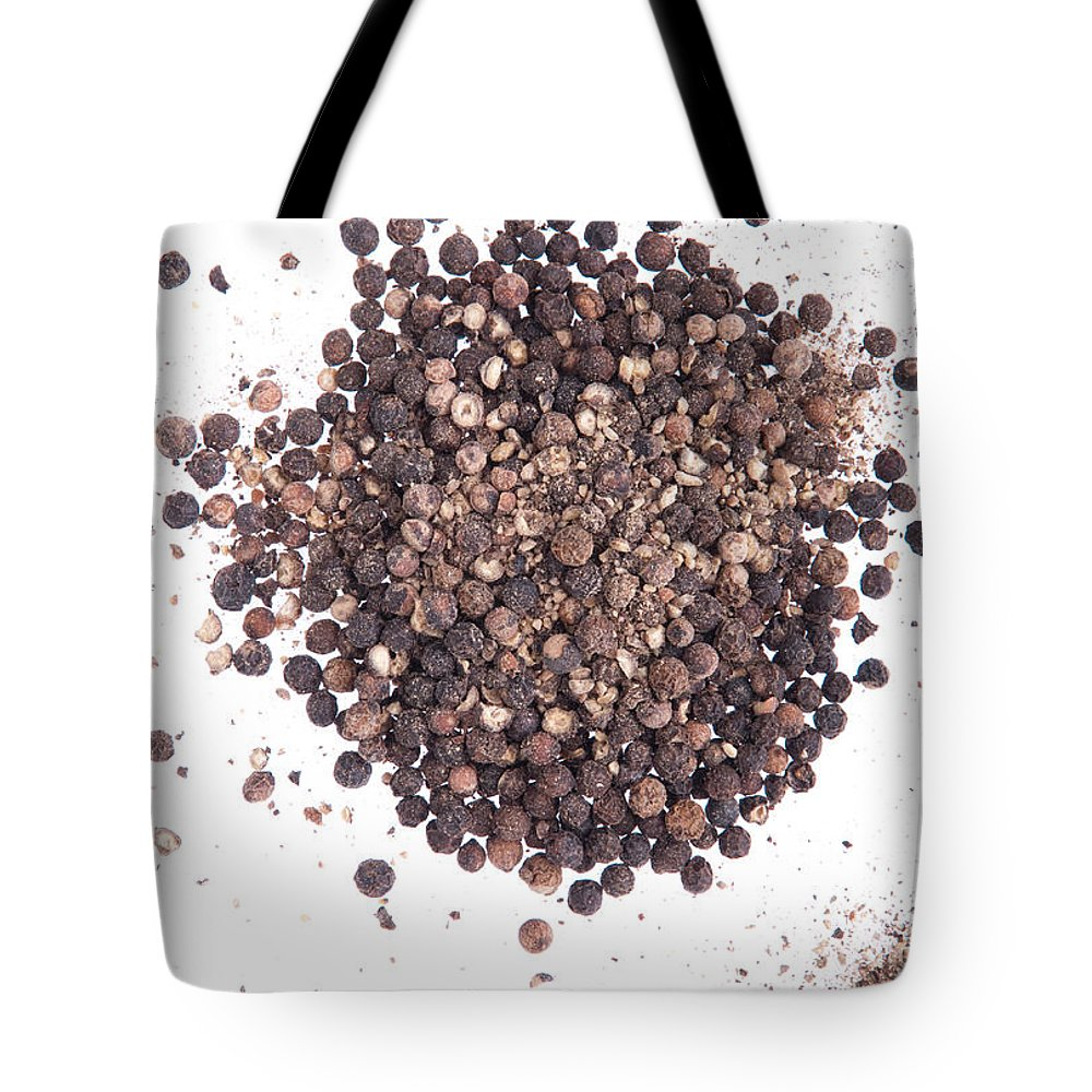Pepper Tote Bag featuring the photograph Black Pepper by Luis Alvarenga