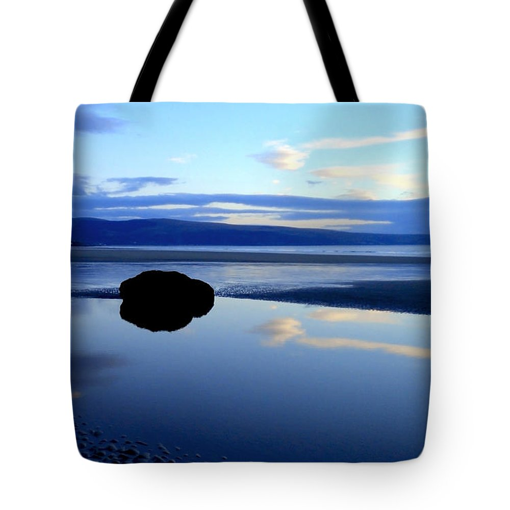 Landscape Tote Bag featuring the photograph Black Rock by Russ Murry