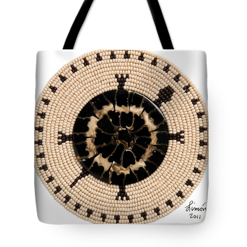 Turtle Tote Bag featuring the digital art Black Shell by Douglas K Limon