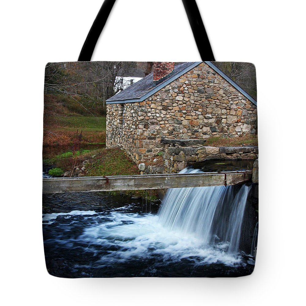 Town Tote Bag featuring the photograph Blacksmith Shop Waterloo Village by Allen Beatty