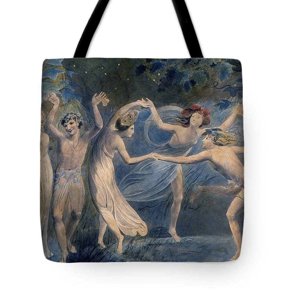 1786 Tote Bag featuring the photograph Blake: Fairies, C1786 by Granger