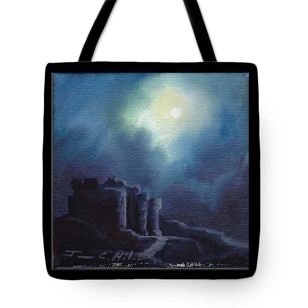Gothic Tote Bag featuring the painting Blarney Castle by James Christopher Hill