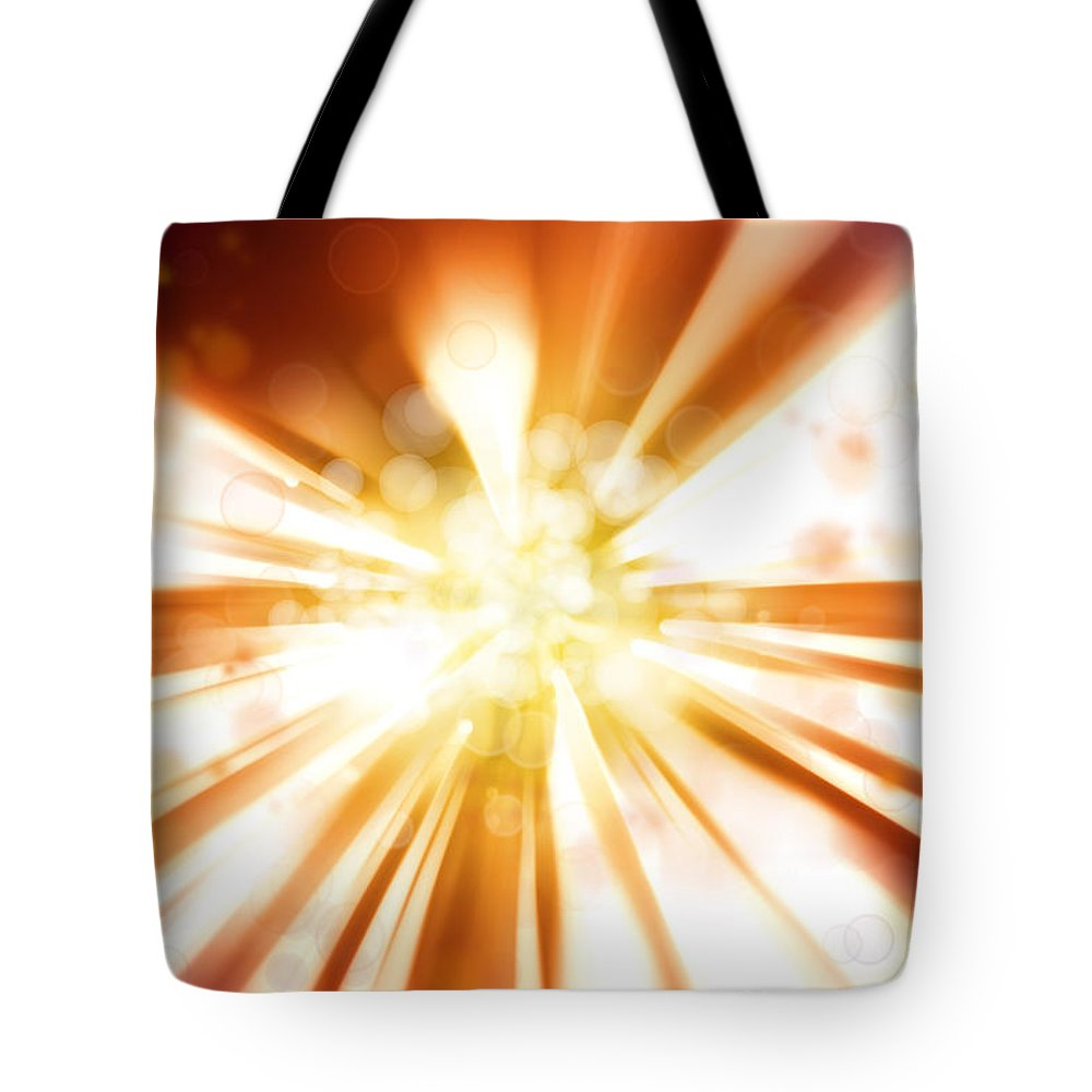 Streak Tote Bag featuring the photograph Blast Background by Les Cunliffe