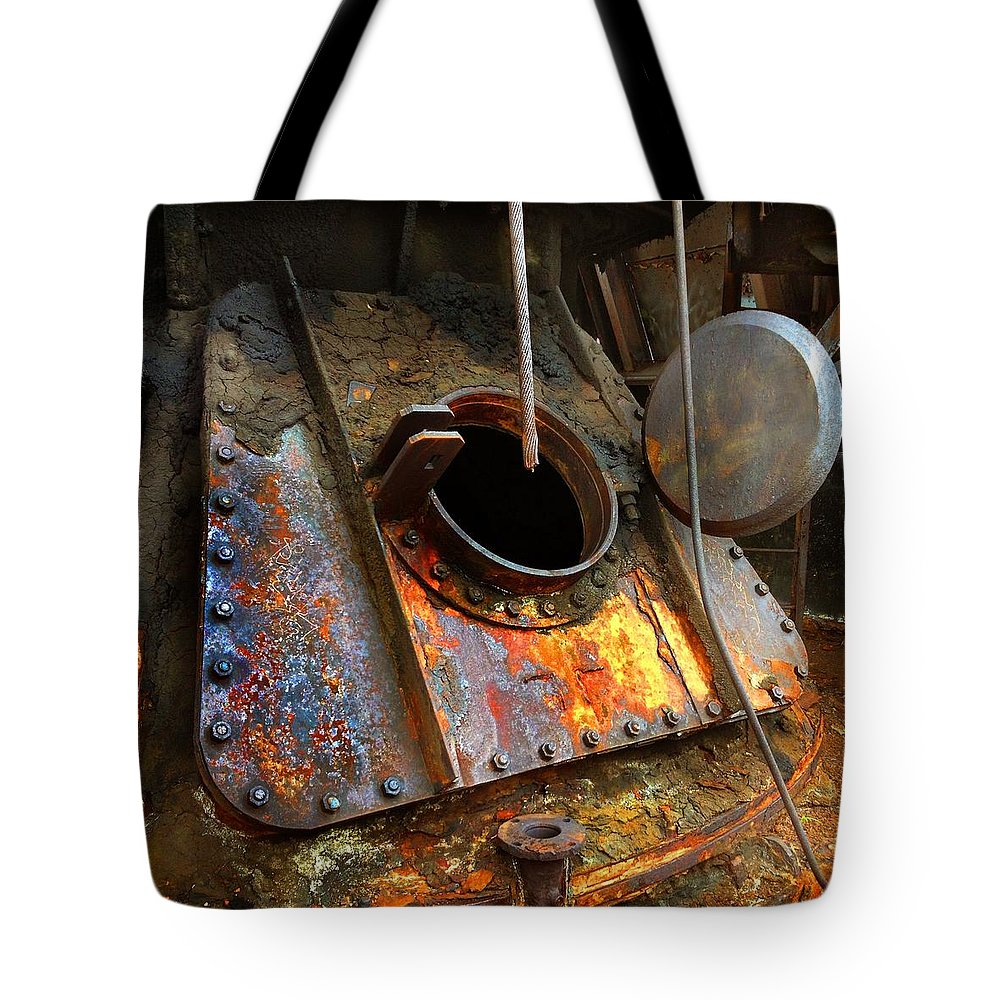 Blast Furnace Tote Bag featuring the photograph Blast Furnace Tower Tap by Keith Clouse