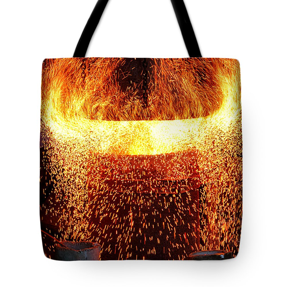 Fire Tote Bag featuring the photograph Blast by Olivier Le Queinec