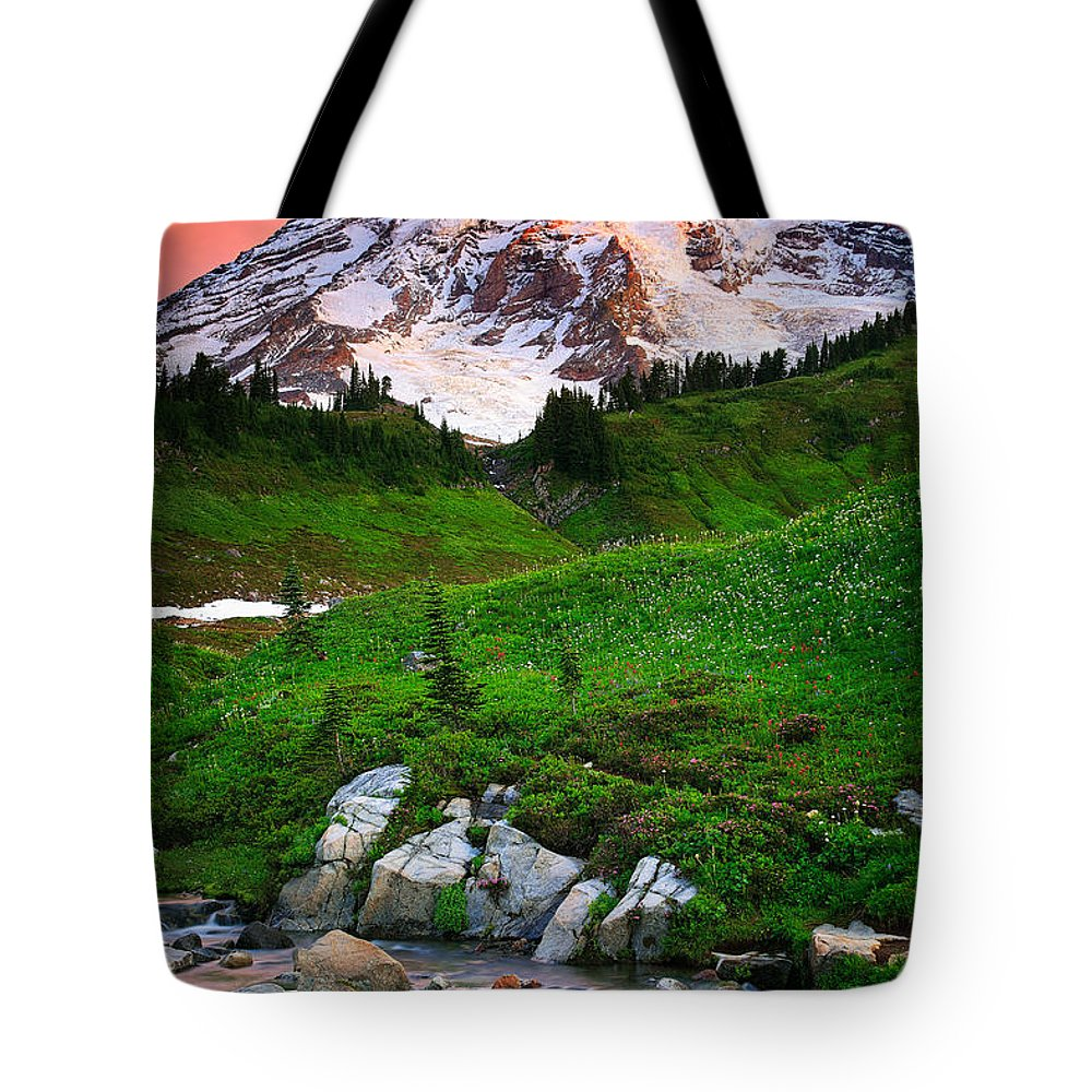 America Tote Bag featuring the photograph Blazing Dawn by Inge Johnsson