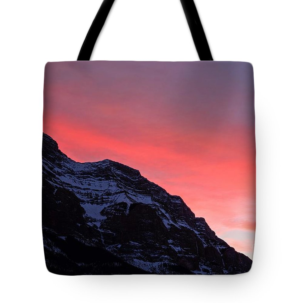 Banff National Park Tote Bag featuring the photograph Blazing Pink by James Anderson
