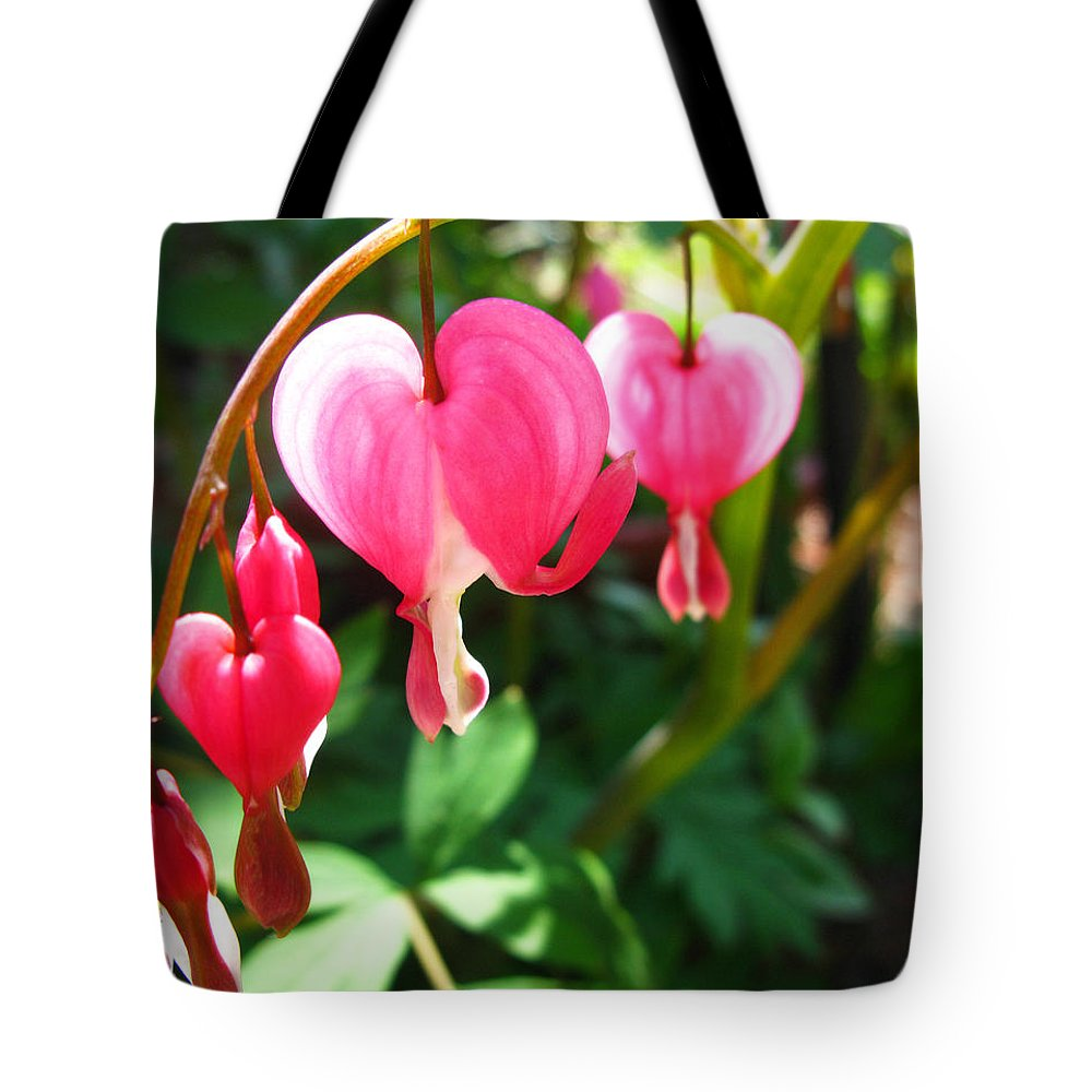 Bleeding Heart Tote Bag featuring the photograph Bleeding Heart by Brittany Horton