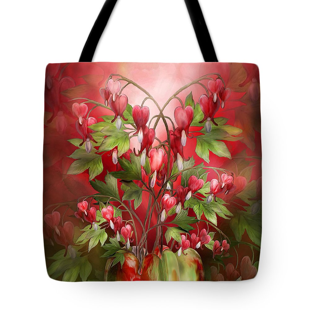 Bleeding Hearts Bouquet Tote Bag for Sale by Carol Cavalaris