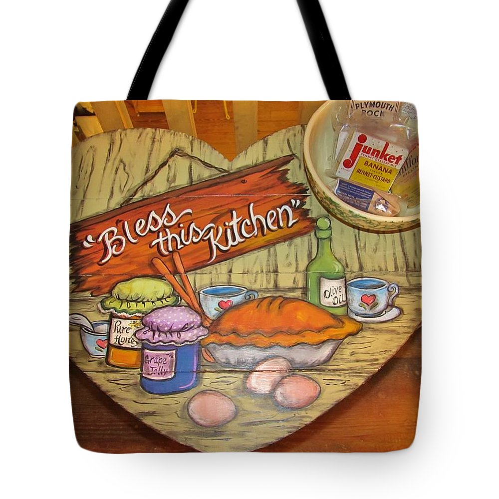 Bless This Kitchen Tote Bag featuring the photograph Bless This Kitchen by Donna Wilson