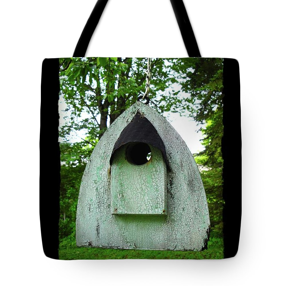 Bird House Tote Bag featuring the photograph Bless This Nest by Jane Alexander