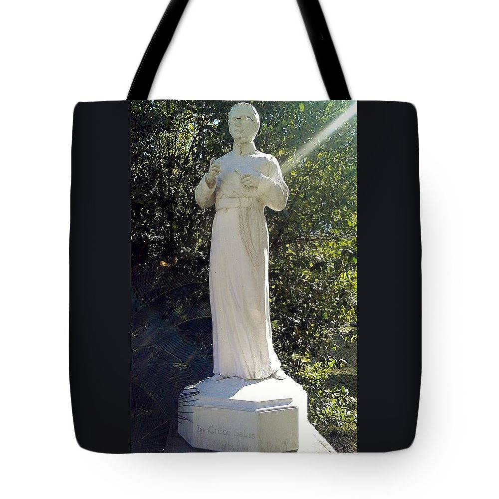 Blessed Father Francis Xavier Seelos C. Ss. R. Tote Bag featuring the photograph Blessed Francis Xavier Seelos C.ss.r. - New Orleans La by Deborah Lacoste