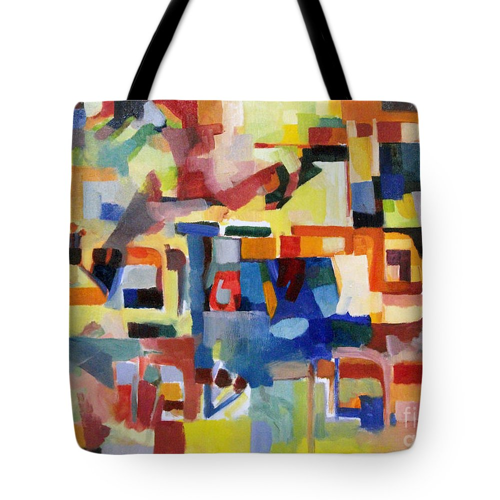 Creativity Tote Bag featuring the painting Blessed Is He Who Redeems And Rescues 1 by David Baruch Wolk