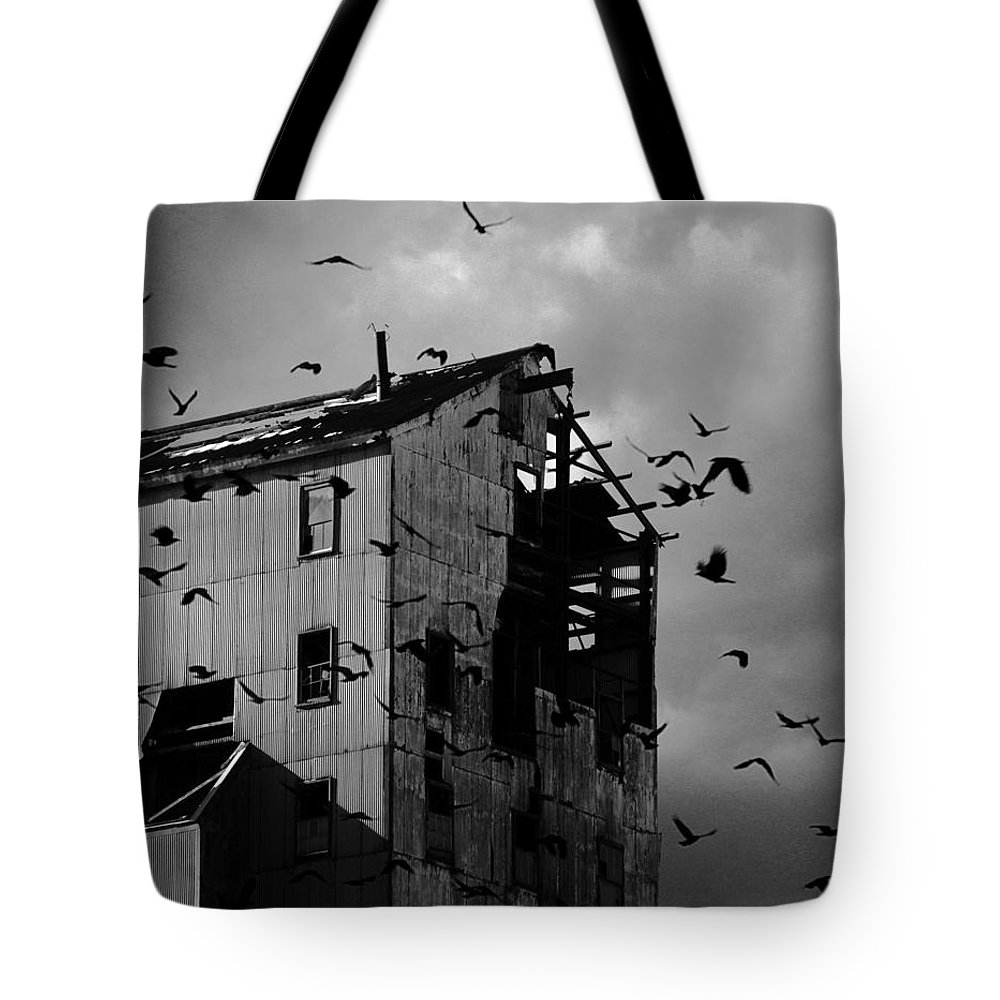 Old Industry Tote Bag featuring the photograph Blighted Urban Light by Gothicrow Images